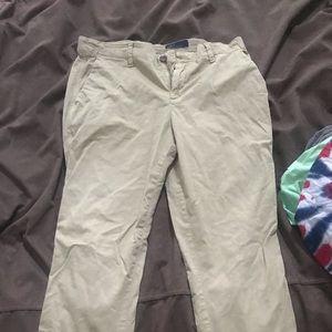 Chino cropped pants